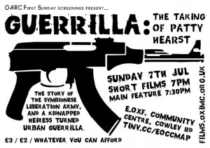 July 2013: Guerilla - The taking of Patty Hearst poster